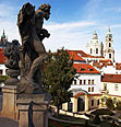 Prague gardens (with St.Nicholas Church)